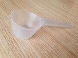 Heißes gute Qualitätssicherheits-Material 30 ml des transparenter Miniplastikpp., der Milch-Puder-Löffel-Kaffee-Löffel mit Schuppen-Zeile misst
