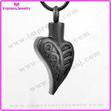 Halsband van de Herinnering van de As van de Juwelen van de Crematie van het Roestvrij staal van de Tegenhanger van de Urn van het blad de Herdenkings (IJD9763)