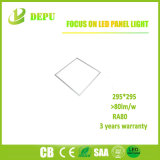 Luz de techo del panel Light/LED del LED 295*295 18W 80lm/W con TUV, Ce