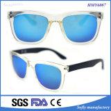 Form-bunter Bügel-Rahmen-Plastiksonnenbrillen mit Metallscharnier