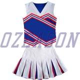 소매 없는 Cheerleading 제복 (CL010)가 관례에 의하여 농담을 한다 고품질 스판덱스