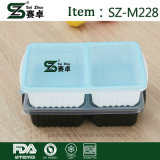 2compartment 도매를 위한 투명한 음식 저장 그릇
