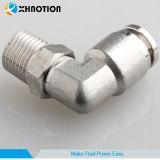 Enfoncer d'ajustage de précision d'émerillon en métal de Xhnotion le coude mâle convenable ferrure de coude de 90 degrés