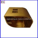주문을 받아서 만들어진 금속 부속 덮개 알루미늄 Champagne는 Diecasting 양극 처리한다