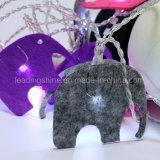 فيل زخرفيّة صانية بيضاء خيط ضوء [فيري ليغت] لأنّ زخرفة بيتيّة