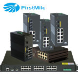 Gestionado Gigabit PoE Switch Industrial con 24 puertos