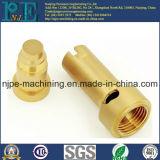 Ajustage de précision de pipe en laiton de usinage fait sur commande de commande numérique par ordinateur de haute précision