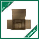 Solapa superior con el rectángulo de papel de encargo de la parte inferior del agolpamiento