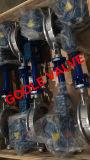 Valvola a farfalla di regolamento elettrica della sede eccentrica triplice del metallo della cialda (GAD973W)