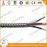 Напечатайте проводникам 12-Gauge 2 Mc на машинке твердый металл одетый кабель с алюминиевым панцырем и зеленым изолированным заземленным кабелем