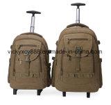 Doppelte Schulter fahrbarer Laufkatze-Segeltuch-Geschsaftsreise-Computer-Rucksack