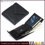 Бумажник держателя кредитной карточки кожи просто конструкции с портмонем монетки