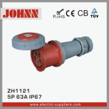 Plugue fixado na parede de IP67 5p 63A para industrial