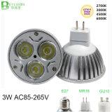 lampada E27 del punto di 3*1W Dimmable LED