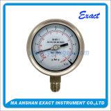 Calibre de pressão enchido Calibrar-Líquido do Calibrar-Petróleo da pressão da pressão de Compond