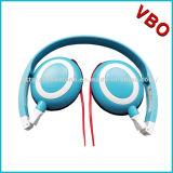 Auriculares estéreo leve fone de ouvido auricular com o cabo flat