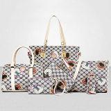 セットの女性5PCSはPU革デザイナーハンドバッグSy7815を袋に入れる