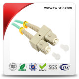 LC OM3 50/125 um dúplex de fibra óptica Cable de conexión con el color Aqua