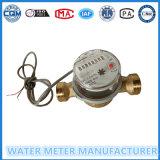 Chorro único esfera seca Medidor de agua de salida de pulsos en 10L/pulso