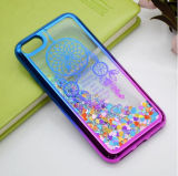 2017 Custom-Made Double Color Galvanização Dynamic Liquid Quicksand Phone Case