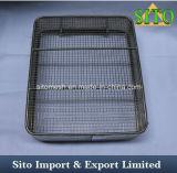 Cestas del acoplamiento de alambre del acero que tejen inoxidable/cestas de alambre de acero inoxidable