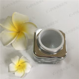 化粧品の包装のための正方形50g銀製のアクリルのクリーム色の瓶(PPC-ACJ-080)