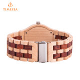 Venta al por mayor de alta calidad reloj de bambú natural del reloj de pulsera de madera del reloj 72665