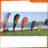 Heiße verkaufenförderung, die Druckenteardrop-Feder-Fliegen-Strand-Markierungsfahne bekanntmacht