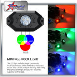 luz off-Road da rocha do diodo emissor de luz da cor do RGB multi para vagens do jipe 4/6/8/12