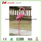 Beeldje van de Flamingo van het Metaal van de best-seller het Decoratieve met het Gedetailleerde Effect van het Bont voor de Decoratie van de Tuin