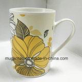 Impression en céramique de cuvette de thé de vaisselle de tasse de porcelaine de tasse pleine