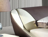 새로운 우아한 디자인 침실을%s 현대 진짜 가죽 침대 (HC322)