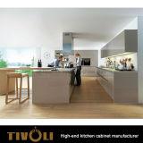 Gabinete de cozinha do projeto moderno e simples de Extremly com o metal que enverniza o revestimento Tivo-0208h