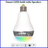 Lumière d'ampoule sans fil sèche de haut-parleur de DEL Bluetooth