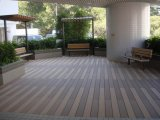 140 * 25mm Natural Feel Price Imperméable WPC Outdoor Flooring, Hot Sale Bois Plastic Composite Decking