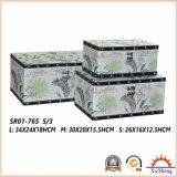 Деревянная античная коробка подарка коробки хранения чемодана с сычом Partten