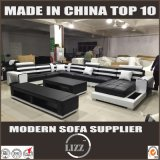 Sofà del cuoio di figura di formato U della mobilia dell'insieme completo di Foshan grande