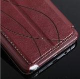 Echtes Leder-Handy-Fall mit Fenster für Sumsung