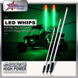 2017 Excelente design novo flexível LED Whip 4FT 5FT 6FT iluminado bandeira Controle Bluetooth LED Whips para ATV UTV RGB LED Long Whip