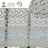 Ткань шнурка флористического хлопка чувствительная, самые новые конструкция и картина, причудливый материал для платья и украшение 2017