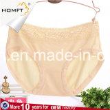 Ropa interior con estilo Panty de las señoras de las bragas de la fibra del Lacework de las chicas jóvenes de bambú del color sólido