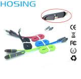 2 dans 1 câble usb de remplissage de caractéristiques plates de prix bas