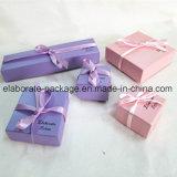 Mini caixa colorida encantadora do pacote do presente da caixa de jóia do cartão