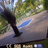 Plancher imperméable à l'eau personnalisé extérieur moderne de WPC pour le stationnement, jardin