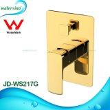 Jd-Ws217g de Gouden Afleider van de Mixer van de Badkuip van het Messing van de Goedkeuring van het Watermerk Muur Opgezette