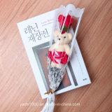 Te amo oso del día de madre con la flor
