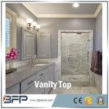 Parte superiore superiore di marmo di pietra naturale di vanità di Couter di vendita calda per la stanza da bagno