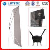 Stand en aluminium de drapeau de Pôle X de fibre de verre