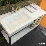 Vanità commerciale della stanza da bagno di disegno dell'Italia e lavabo di pietra della resina