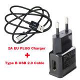2Un adaptador de enchufe de la UE el teléfono móvil cargador de viaje USB + cable de datos
